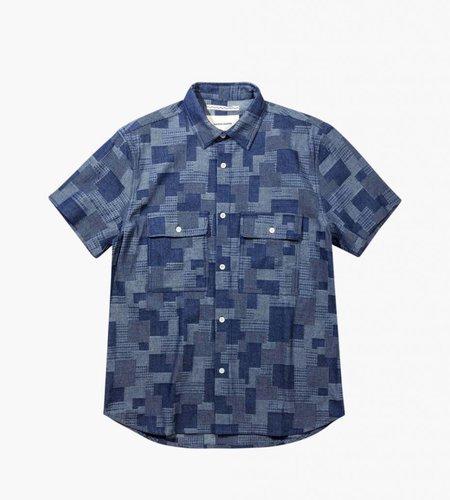 Native North Native North Denim Patchwork Shirt Navy