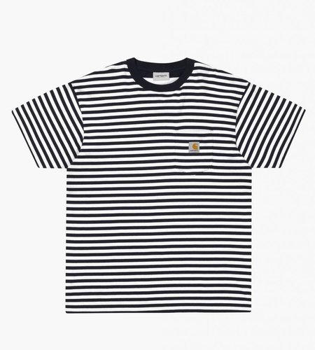 Carhartt Carhartt S/S Barkley Pocket T-Shirt Barkley Stripe Dark Navy
