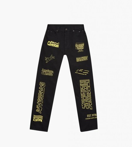 Calvin Klein Calvin Klein Est. 1978 Straight Jeans Black Yellow Embroid
