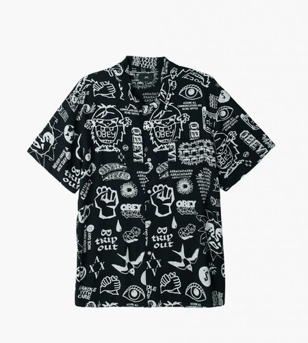 Obey Obey Flash Woven SS Black Multi