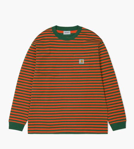 Carhartt Carhartt L/S Barkley Pocket T-Shirt Barkley Stripe Dragon