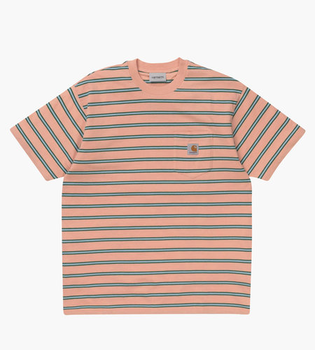 Carhartt Carhartt Houston Pocket T-Shirt Houston Stripe Peach Stripe