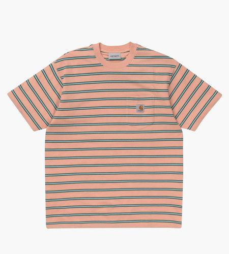 Carhartt Carhartt S/S Houston Pocket T-Shirt Houston Stripe Peach Stripe