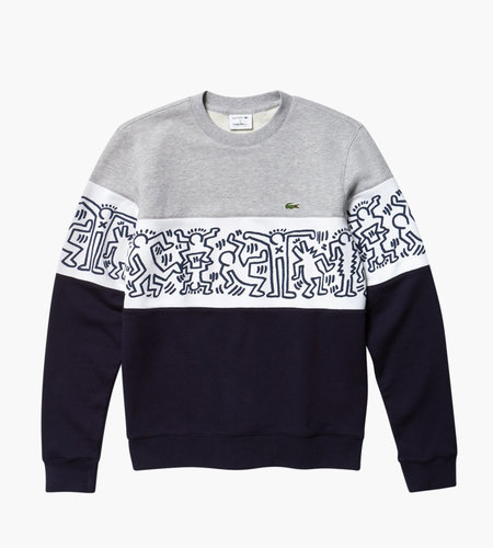 Lacoste Live Lacoste X Keith Haring Men's Sweatshirt J1T Navy Blue White Silver Ch