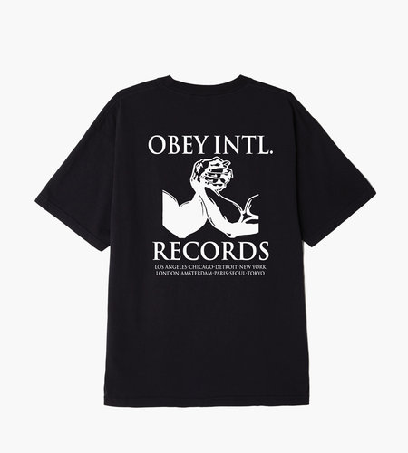 Obey Obey INTL. Records Off Black