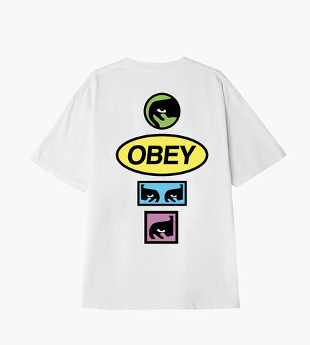 Obey Obey Stacked White