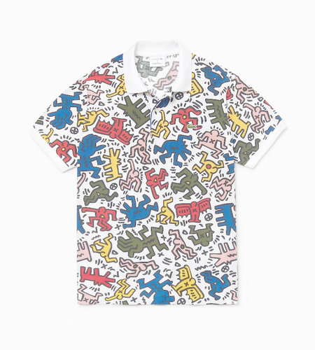 Lacoste Live Lacoste X Keith Haring  Men's S/S Polo White multico
