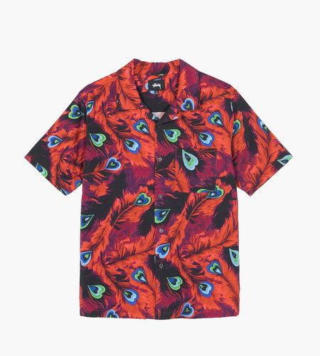 Stussy Stussy Peacock Shirt Red