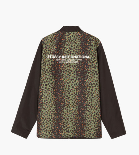 Stussy Stussy Leopard Panel Jacket Black