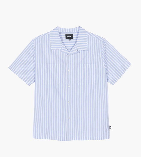 Stussy Stussy Open Collar Shirt Blue