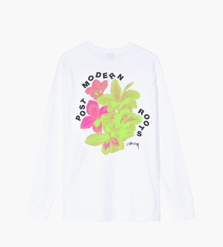 Stussy Stussy Post Modern Roots LS Tee White