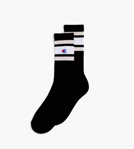 Champion Crew Socks Black White