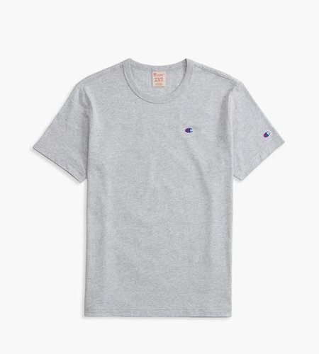 Champion Champion Script Logo Back Crew Neck T-Shirt Grey