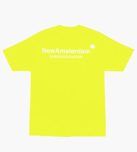 New Amsterdam New Amsterdam Logo T-shirt Safety Green