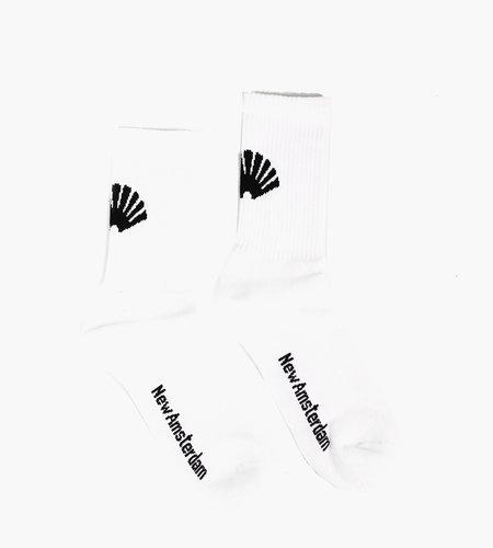 New Amsterdam New Amsterdam Logo Socks White