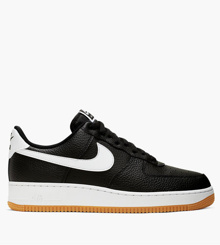 Nike Nike ANike Air Force 1 ' 07 Black White Wolf Grey Gum Med Brown