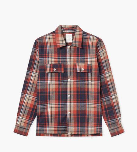 Wood Wood Wood Wood Franco Shirt Rust Check