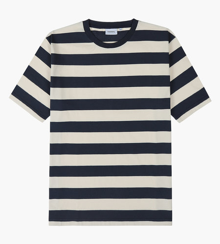 Baskèts Baskèts AW19 Heavy Cotton Tee Stripe Off White Navy