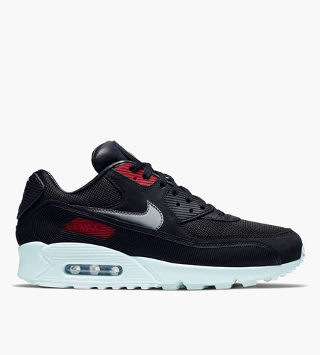 Nike Nike Air Max 90 Premium 'Vinyl' Black Cool Grey Teal Tint University Red