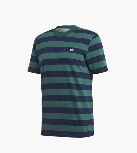 Adidas Adidas Stripe tee Night Indigo Collegiate Green