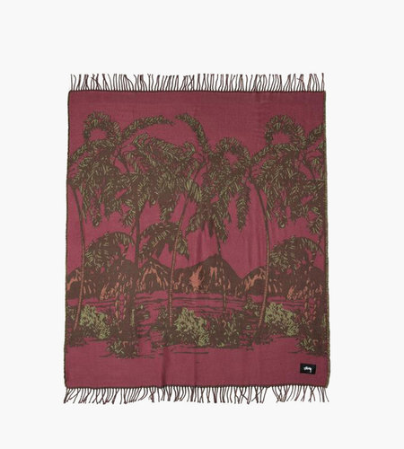 Stussy Stussy Double Faced Palm Tree Blanket Multi