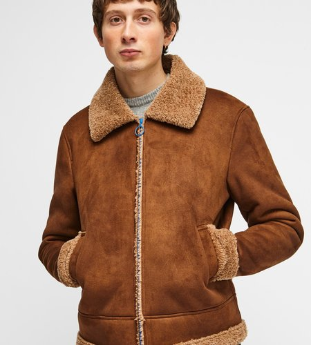 Soulland Soulland Max Faux Sherling Jacket Brown
