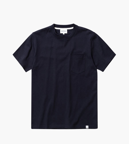 Norse Projects Norse Projects Johannes Pocket SS Tee Dark Navy
