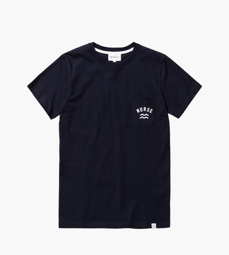 Norse Projects Norse Projects Niels Ivy Wave Logo Tee Dark Navy