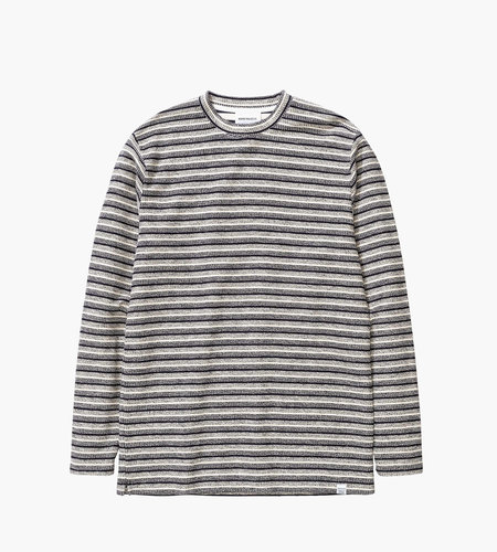 Norse Projects Norse Projects Johannes Textured Stripe LS Tee Ecru