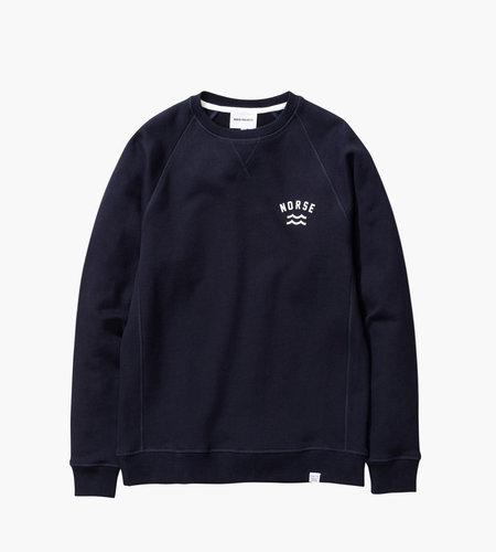 Norse Projects Norse Projects Ketel Ivy Wave Logo Dark Navy