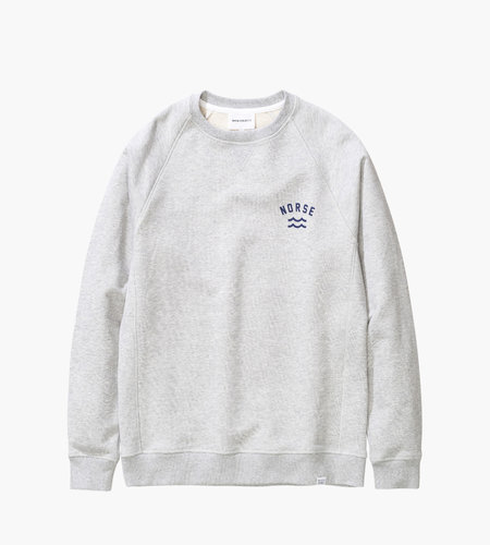 Norse Projects Norse Projects Ketel Ivy Wave Logo Light Grey Melange