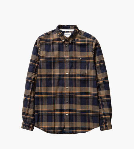 Norse Projects Norse Projects Anton Brushed Flannel Check Ivy Green