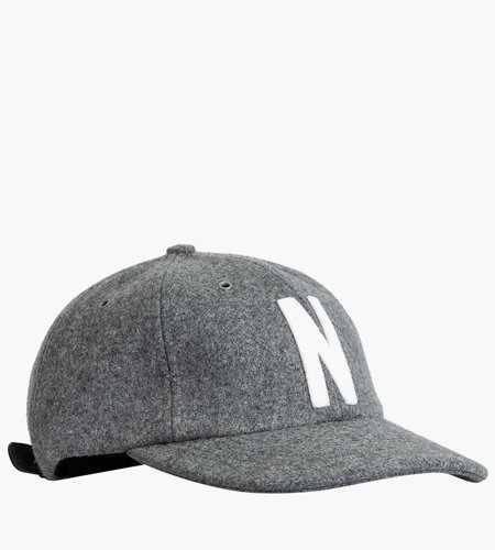 Norse Projects Norse Projects Wool Sports Cap Light Grey Melange