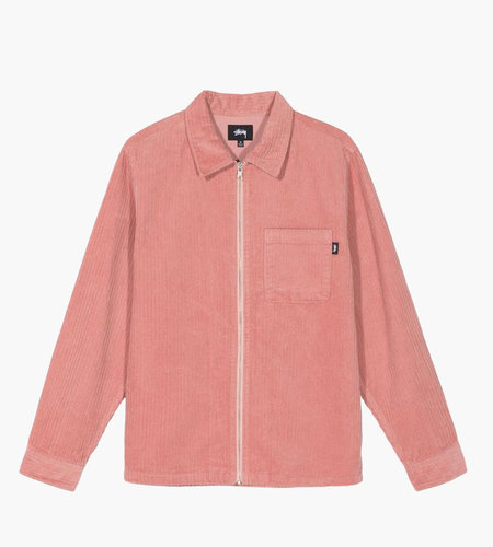 Stussy Stussy Big Wale Cord Zip Up LS Shirt Pink