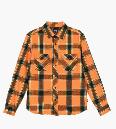Stussy Stussy Ace Plaid LS Shirt Orange