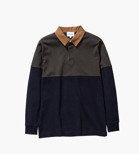 Norse Projects Norse Projects Ruben LS Polo Colour Block Beech Green
