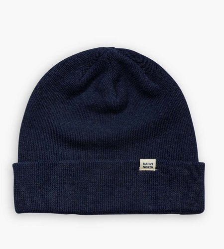 Native North Native North Wool Melange Beanie Navy