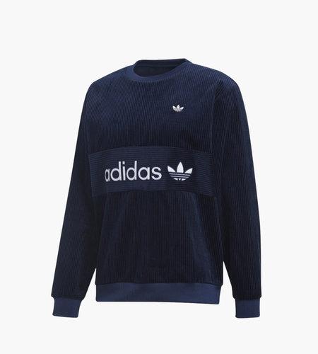 Adidas Adidas Samstag Corduroy Sweatshirt Night Indigo