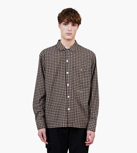 Olaf Hussein Olaf Hussein ØLÅF Flannel Check Overshirt Brown Yellow