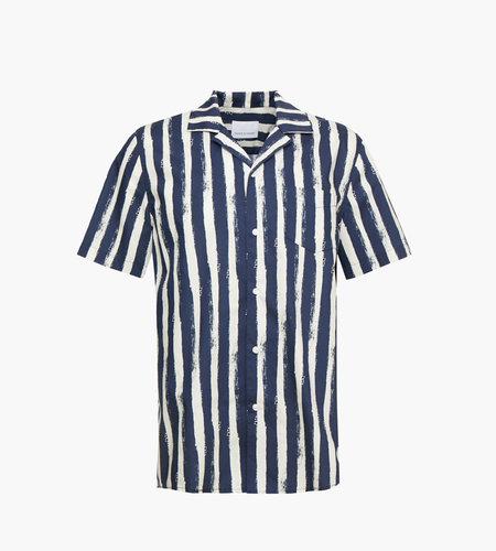 Samsoe & Samsoe Samsoe Samsoe Einar SA Shirt AOP 8015 Blue Stroke