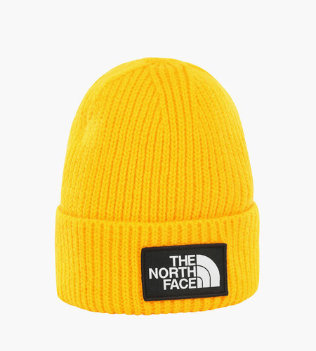The North Face The North Face Logo Box Cuf Beanie Yellow