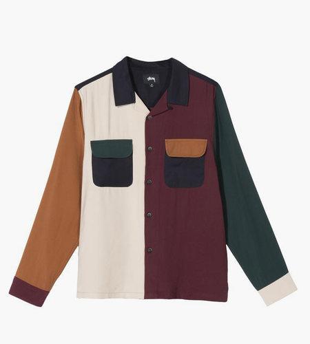 Stussy Stussy Color Block Rayon Shirt Multi