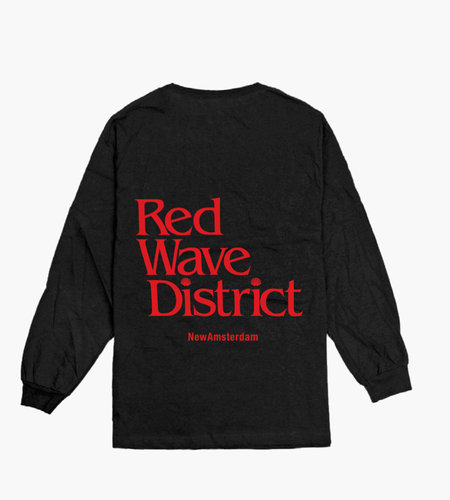 New Amsterdam New Amsterdam Red wave longsleeve Black