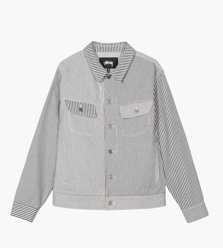 Stussy Stussy Mixed Stripe Trucker Jacket Hickory