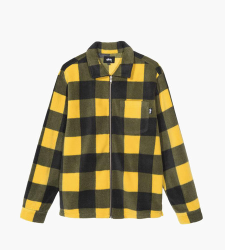 Stussy Stussy Polar Fleece Zip Up Shirt Yellow