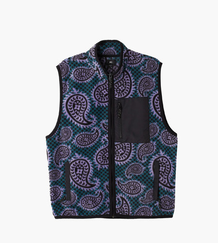 Obey Obey Eisley Mock Vest Paisley Teal