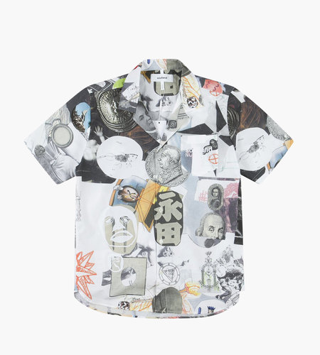 Soulland Soulland Meets Numbers Collage Button Up Multi