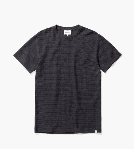 Norse Projects Norse Projects Niels Fairisle Texture Charcoal Melange