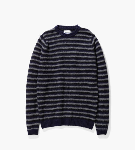 Norse Projects Norse Projects Sigfred Brushed Stripe Dark Navy