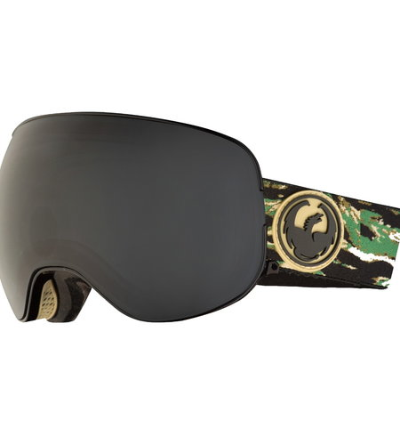 Dragon Alliance Dragon Alliance X2 Three Snow Goggles Hunter Dark Smoke Yellow Blue Ionized